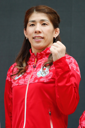 "‹g""c¹•Û—¢/Saori Yoshida (JPN), MAY 26, 2016 - : A press conference about presentation of Japan national team official sportswear for Rio de Janeiro Olympics 2016 in Tokyo, Japan. (Photo by Sho Tamura/AFLO SPORT)"